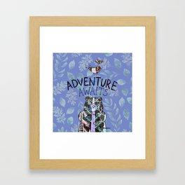 Adventure Awaits - Bagaceous Framed Art Print