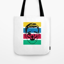 Creepy Gentleman Tote Bag