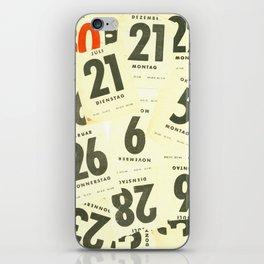 CLOSEUPS - Calendar Sheets iPhone Skin