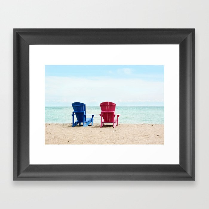 AFE Beach Chairs Framed Art Print