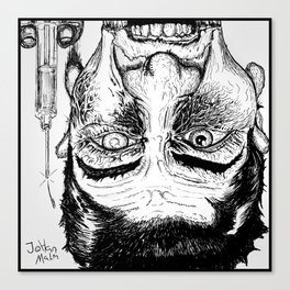 Crazy junkie Canvas Print