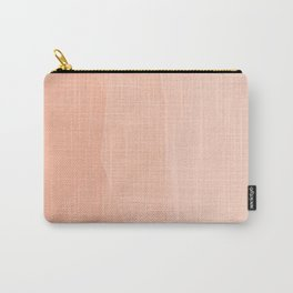 A Touch Of Peach - Soft Geometric Minimalist Carry-All Pouch
