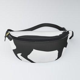 Horse - Running - Black Fanny Pack