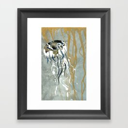Jellyfish Voyage Framed Art Print