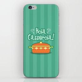 Hola Casserola! Spanglish illustration iPhone Skin