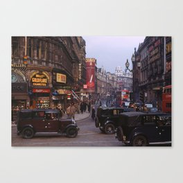 Piccadilly London Kodachrome Canvas Print