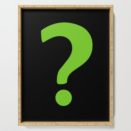 Enigma - green question mark Serving Tray