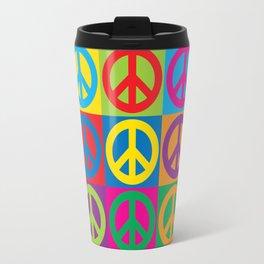 Pop Art Peace Symbols Travel Mug