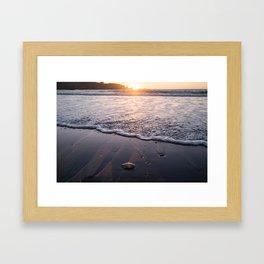 Waves Washing On Shore in Ft. Bragg, CA Framed Art Print