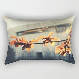 nature vs museum Rectangular Pillow