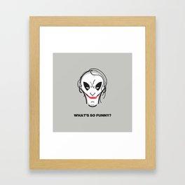 What's so funny? Framed Art Print