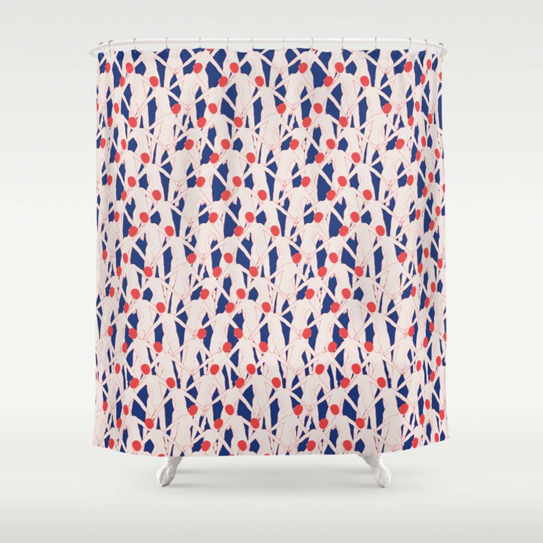 Octopus shower curtain etsy - Comics Humor And Pattern Shower Curtains Society6 Dalek Shower Curtain