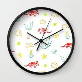 Armadillo Desert Pattern Wall Clock