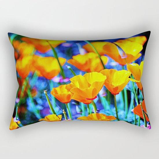 The Poppy Field. © J. Montague. Rectangular Pillow