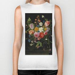 "Jan van Kessel de Oude ""Tulips, peonies, chicory, carnations, cherry blossom and other flowers"" Biker Tank"