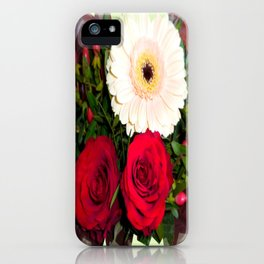 Red Roses and Gerberas iPhone Case