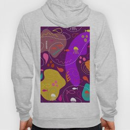 Mid Century Modern With Sea Life Hoody