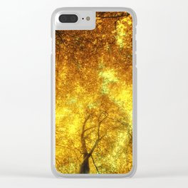 Golden Trees of Endless Dreams Clear iPhone Case