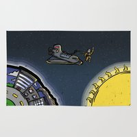outer space Area & Throw Rugs featuring Outer Space by Thomas Gomes
