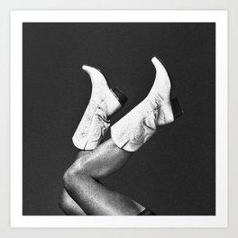 These Boots - Noir Art Print