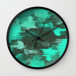 Chill Factor - Abstract cyan blue painting Wall Clock