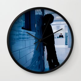 Shadow of a Boy in Hospital Reception, A Wall Clock