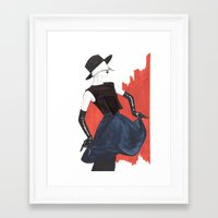 fringe Framed Art Prints featuring Fringe by Sweet Bliss Art