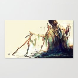 Creepy Crepe Canvas Print