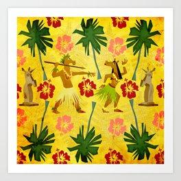 Tropical Island Unicorn Art Print