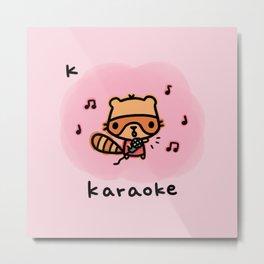 K for karaoke Metal Print