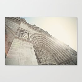 Bathed in sunlight at the Notre Dame, Paris, France Canvas Print