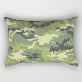 Green Military Camouflage Pattern 4 Rectangular Pillow