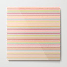 Sweet Shop Stripes Metal Print
