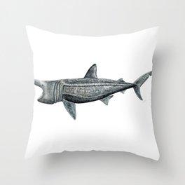 Basking shark (Cetorhinus maximus) Throw Pillow