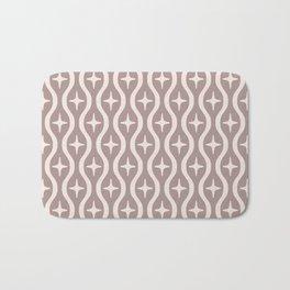 Mid century Modern Bulbous Star Pattern Beige Bath Mat
