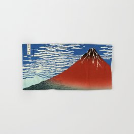 "Hokusai (1760–1849) ""Fuji, Mountains in clear Weather (South Wind, Clear Sky)(Red Fuji)"" Hand & Bath Towel"