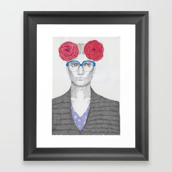 Two Red Flowers 02 Framed Art Print