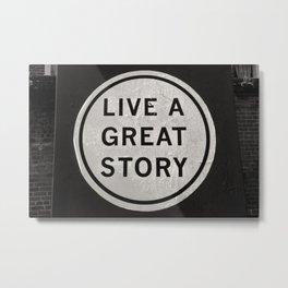 New Orleans Black and White Photography, Inspiring Quote Decor, Louisiana Black & White Photo Metal Print