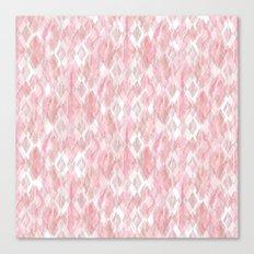 Harlequin Marble Mix Blush Canvas Print
