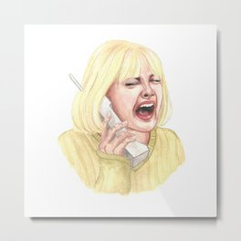 Drew Barrymore, Scream - Casey Metal Print