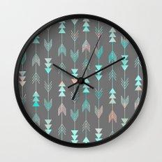 Aztec Arrows Wall Clock