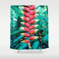 flower of life Shower Curtains featuring Life by Antonio Jader