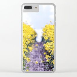 Walk Through the Yellow Clear iPhone Case