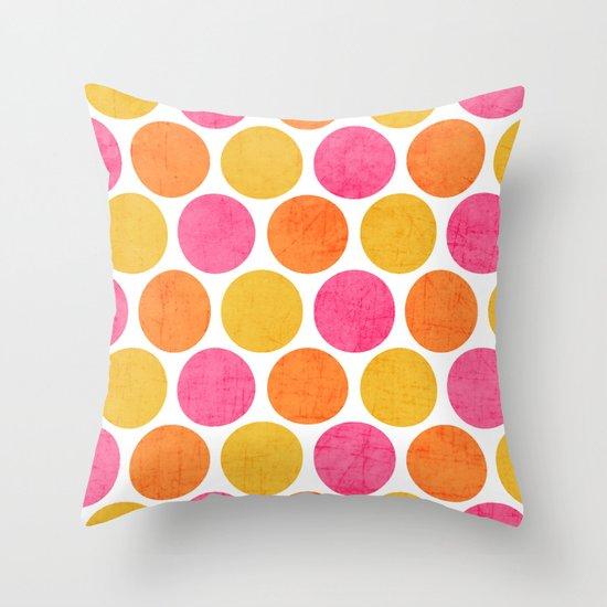 summer polka dots Throw Pillow