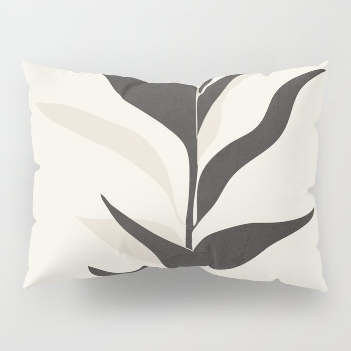 Abstract Minimal Plant Pillow Sham