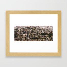 San Francisco Tilt-Shift Framed Art Print