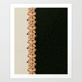 Hibiscus Tiles Art Print