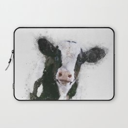 Holstein Cow Watercolor Laptop Sleeve