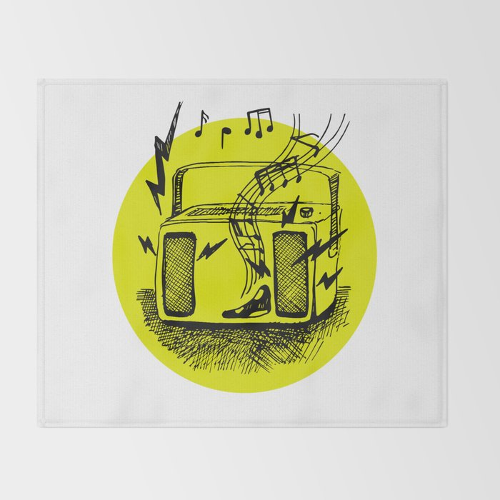 Noisy Radio Throw Blanket