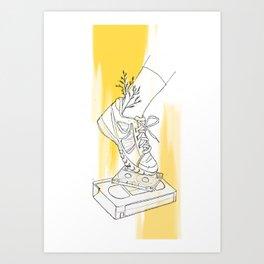 Yellow Grace Art Print